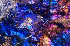 Chalcopyrite rainbow background Stock Photos