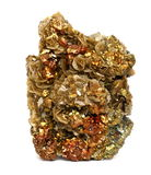 Chalcopyrite with Siderite crystals Stock Images