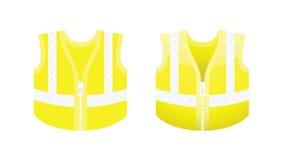 Chaleco amarillo fluorescente protector Imágenes de archivo libres de regalías