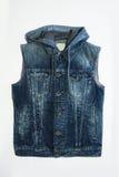 Chaleco azul masculino del dril de algodón Imagen de archivo