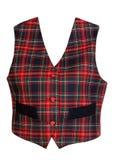 Chaleco rojo de la tela escocesa Imagenes de archivo