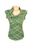Chaleco verde caliente en un blanco. Fotos de archivo libres de regalías