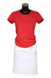 Chaleco y falda rojos Imágenes de archivo libres de regalías
