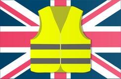 Chalecos amarillos de la protesta en la capital de Inglaterra Londres Ilustración del vector ilustración del vector
