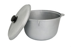 Chaleira de alumínio fotografia de stock royalty free