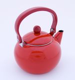 Chaleira de chá vermelha fotos de stock royalty free