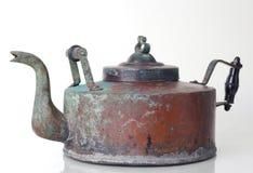 Chaleira de cobre antiga Foto de Stock