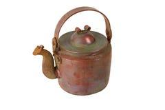 Chaleira de cobre antiga Foto de Stock Royalty Free
