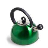 Chaleira verde do ferro isolada Imagens de Stock Royalty Free