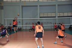 Chaleng de joueurs de volleyball d'hommes Photographie stock libre de droits