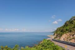 Chalerm Burapha Chonlathit Highway-Blick von Standpunkt Noen Nangphaya Lizenzfreie Stockbilder