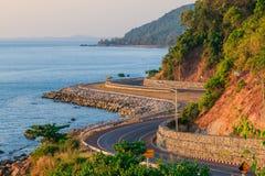 Chalerm Burapha Chonlathit Highway , Chanthaburi Thailand Stock Photo