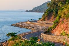 Chalerm Burapha Chonlathit Highway look in Thailand Stock Image