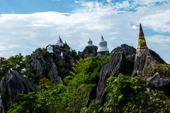 Chalermprakiet Temple, Lampang Province Thailand. Amazing temple on top of mountain at Lampang, North of Thailand stock photos