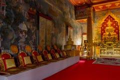 Chalermraj tailandese di kushinara di Wat, Uttar Pradesh kushinagar India Fotografia Stock