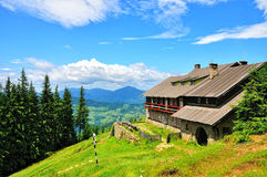 Chalet. Mountain chalet in Romania in summer royalty free stock photos