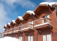 Chalet. Detail in winter season stock image