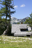 Chalet. Small chalet in Julian alps Royalty Free Stock Image