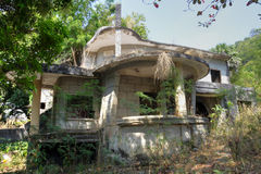 Chalet abandonado, Kep Fotografía de archivo