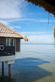 Chalet above sea. Luxury chalet in the middle of sea Royalty Free Stock Photo