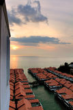 Chalet above sea at Port Dickson, Malaysia Stock Image
