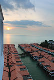 Chalet above sea at Port Dickson, Malaysia Stock Photography