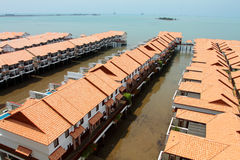 Chalet above sea at Port Dickson, Malaysia Stock Images