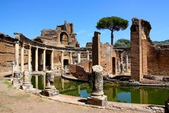 Chalet Adriana cerca de Roma, Italia Foto de archivo libre de regalías