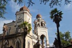 Chalet Aloisi Mansión abandonada en estilo oriental Foto de archivo