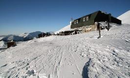 Chalet alpestre dans le Tatras inférieur Photo libre de droits