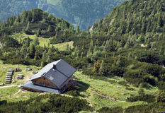 Chalet in Alps Stock Photography