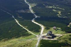 Chalet in bergen Karkonosze royalty-vrije stock afbeeldingen