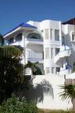 Chalet blanco en Playa del Carmen - México Fotografía de archivo libre de regalías