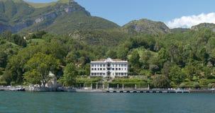Chalet Carlotta de Como del lago almacen de metraje de vídeo