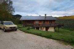 Chalet in Chambéry, Frankrijk royalty-vrije stock foto