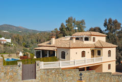 Chalet in Cordoba. Chalet in the mountain range of Cordoba, Spain royalty free stock images