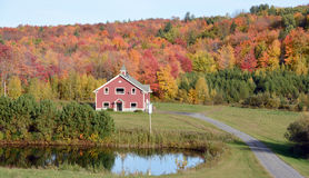 Chalet in country side of Bromont Stock Image