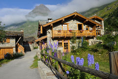 Chalet in de Alpen Royalty-vrije Stock Foto