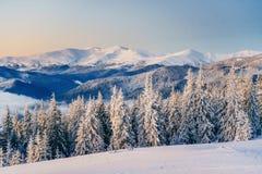 Chalet in de bergen stock fotografie