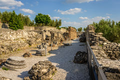Chalet de Catullus de las ruinas fotos de archivo