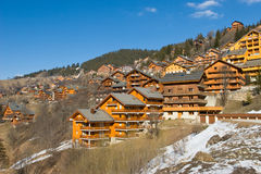 Chalet de la estación de esquí Foto de archivo libre de regalías