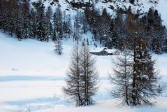 Chalet de la montaña Imágenes de archivo libres de regalías