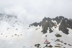 Chalet de lac Balea Images stock