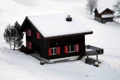 Chalet in de Sneeuw royalty-vrije stock fotografie
