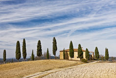 Chalet de Toscana fotos de archivo