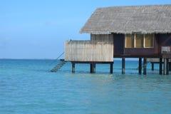 Chalet del agua en Maldives Fotografía de archivo libre de regalías