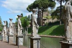 Chalet del emperador Hadrian en Tivoli, Italia imágenes de archivo libres de regalías