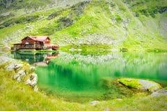 Chalet del lago Bilea Fotografie Stock Libere da Diritti