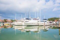 Chalet del puerto deportivo Fotos de archivo libres de regalías