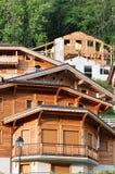 Chalet della montagna nelle alpi francesi fotografia stock